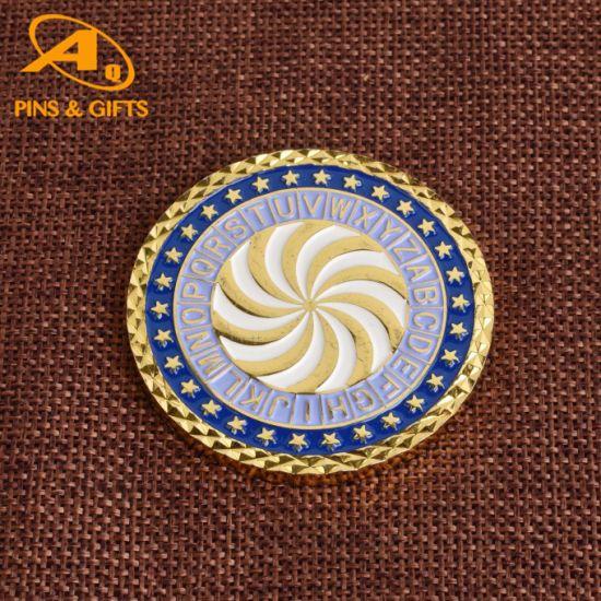 U. S. Navy Texas Navigation Chief Petty Officer Cheap Metal Enamel Souvenir Coins Game Shopping Keyholder Ring Coins (COIN-040)