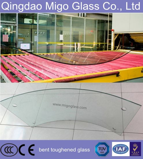 6mm Hot Curved Tempered Glass for Building Balustrade pictures & photos