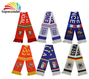 Printing All Sorts of Football Fan Promotional Polyester Printing Scarf pictures & photos