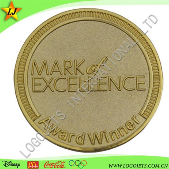 Gold Plated Colorless Challenge Coin 3D Zinc Alloy Sport Award Souvenir Coin
