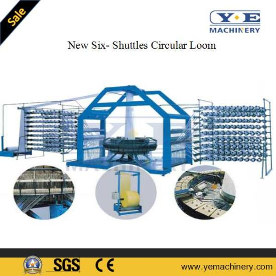 Improved Six Shuttles Circular Loom Machine for PP Woven Bag pictures & photos