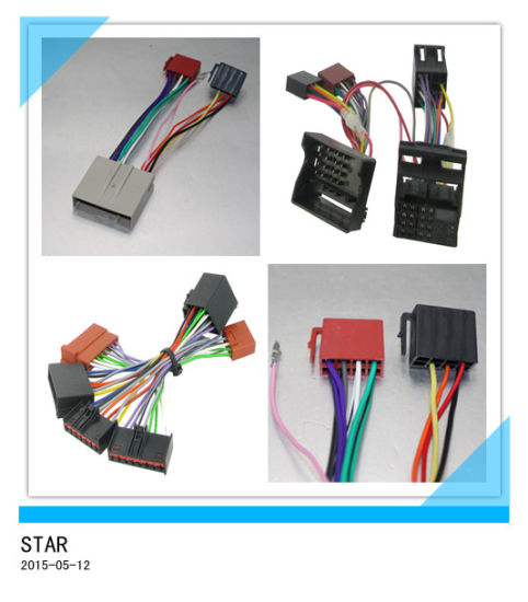 china car radio ford adapter iso wire harness connector for wiring rh starconnect en made in china com
