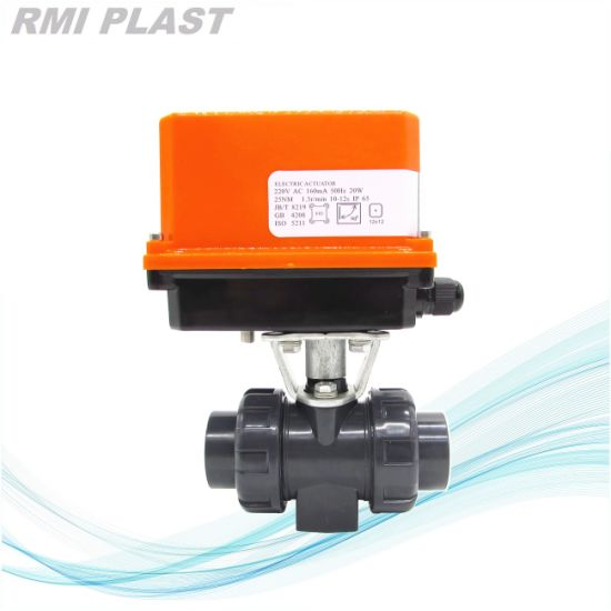 PVDF Ball Valve with Electric Control pictures & photos