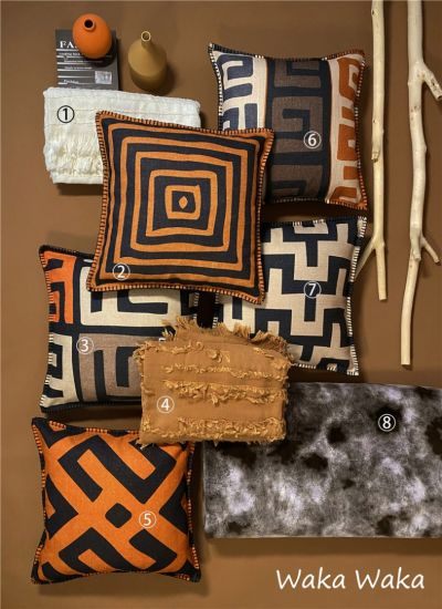 Printed Polyester Sofa Cushions / Color Kuba Pillows Home Decorative Cushions