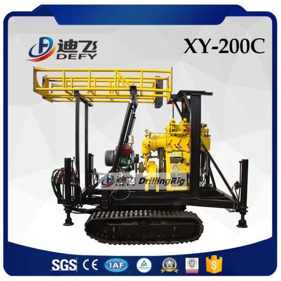 200m Hydraulic Portable Soil Sampling Drilling Machine
