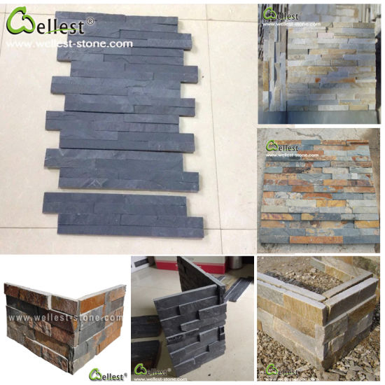 China Natural Slate Wall Stone Panel Natural Stone Veneer For