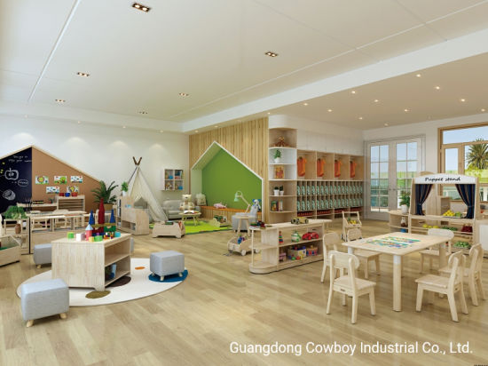 Cowboy Kids Kindergarten Furniture Including Cabinet Table Chairs for Daycare Classroom Design