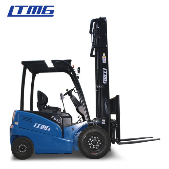 China 4 Wheels 2 Ton 2.5 Ton 3 Ton AC Motor Battery Electric Forklift with Solid Tires Side Shift Full Free Mast