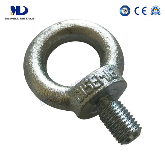 Electric Galvanized Drop Forged Carbon Steel C15e or C15 DIN580 Lifting Eye Bolt pictures & photos