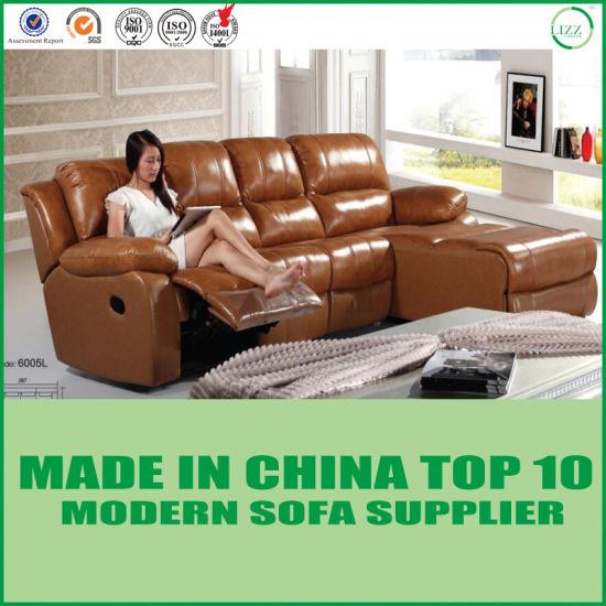 Sensational Divani Modern Orange Sectional Leather Sofa Set Recliner Machost Co Dining Chair Design Ideas Machostcouk