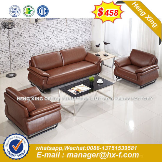 Office Used Metal Frame Leisure Leather Sofa Hx 8n1118