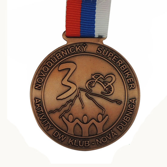 Superbike Competition Gold Silver Bronze Medal with Three Colors Lanyards