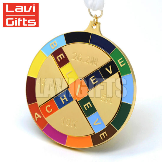 ironman gold award medallion medal of provide sport custom