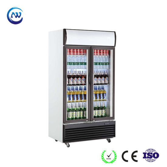China Upright Glass Door Drink Fridge With Led Lighting Lg 950bf