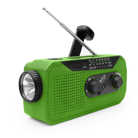 New Solar Hand Crank Am FM Multifunction portable Dynamo Wind up Emergency Radio with Super LED Flashlight pictures & photos
