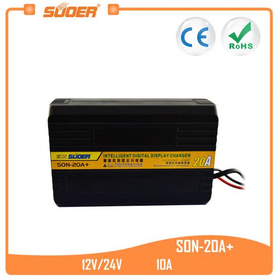 [Hot Item] Suoer Digital Display Charger 12V 24V Smart Battery Charger (SON 20A+)