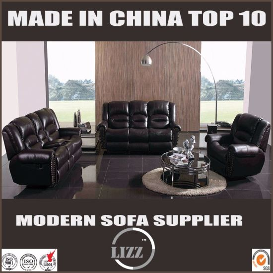 Modern Style Upholstery Recliner Leather Sofa