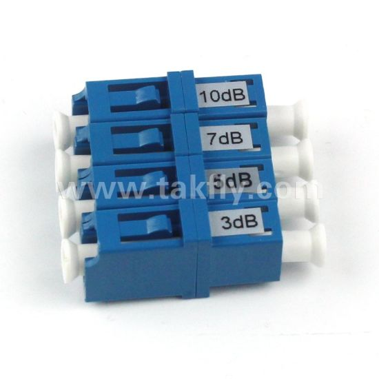 3dB/5dB/10dB/15dB/20dB Fixed Type LC Fiber Optic Attenuator pictures & photos