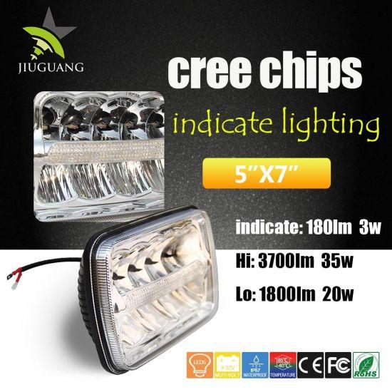 Best Selling Offroad Trucks 35W 5X7inch LED Jeep Headlight