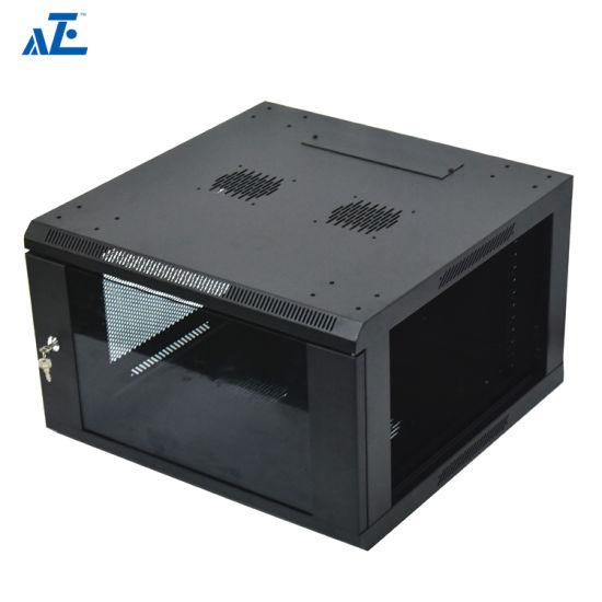 9U Wall Mount Network Server Data Cabinet Enclosure Rack Glass Door Lock w// Fan