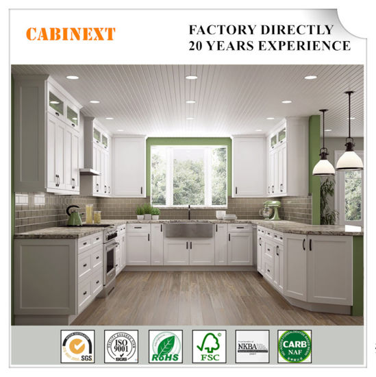 Modern Furniture Solid Wood Kitchen Cabinets Made In China China