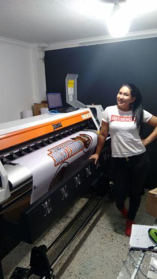 Tecjet S 1671 1.6m 1440dpi Flex Banner Plotter Large Format Eco Solvent Printer with Dx7 Print Head