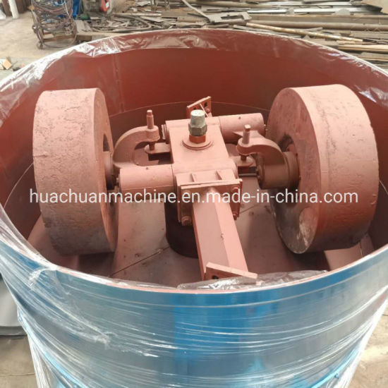 Large Capacity Double Grinding Wheel Foundry Sand Mixer