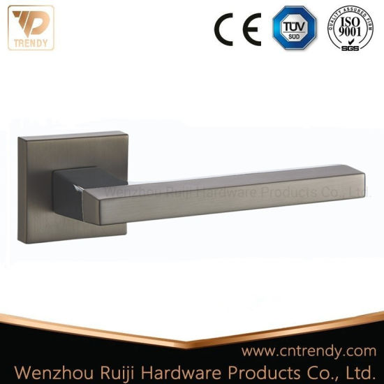 Msb/Cp Door Lock Hardware Quality Door Handle Lever with Square Base (Z6218-ZR13) pictures & photos