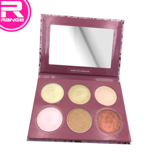 Professional High Shiny Face Glow Palette, Highlighter Powder