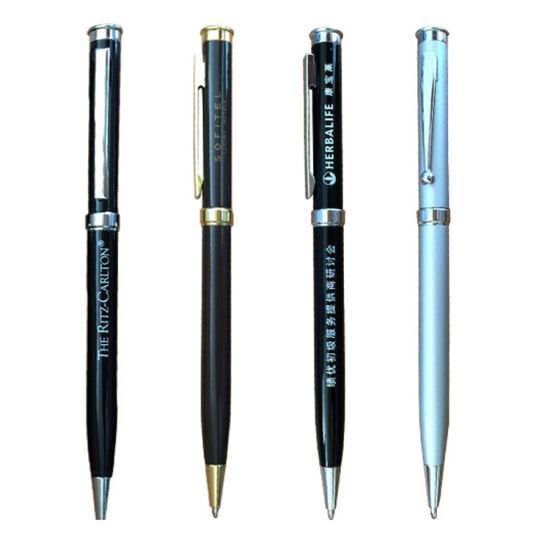 Metal Logo Design Promotional Gift Office Supply Hotel Customized Stationery Ball Point Pen (ZG-1028)