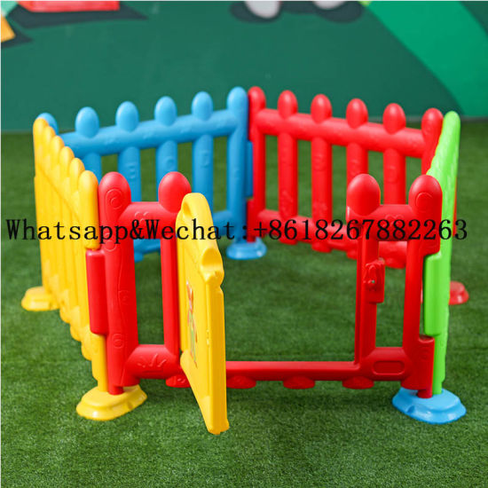 Colorful Indoor Children Game Playground Equipment with Kids Plastic Fence