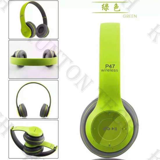 ae18e95200b263 Factory Wholesale Cheapest P47 Stereo Gaming Wireless Headset Bluetooth  Headphone