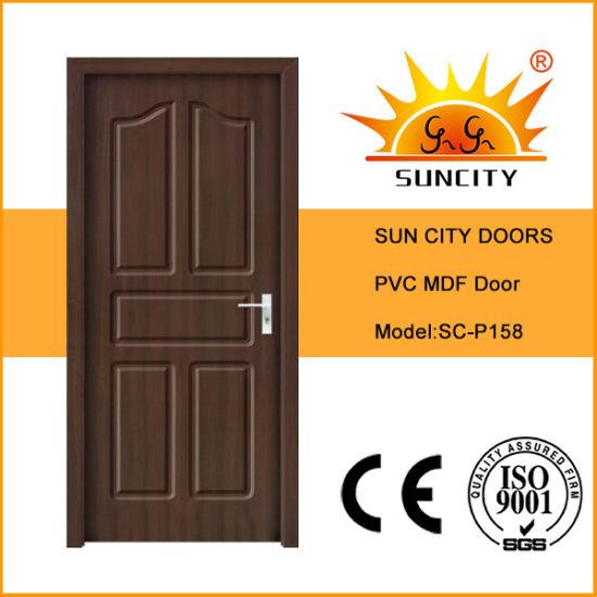 MDF Core PVC Wood Timber Door Panel