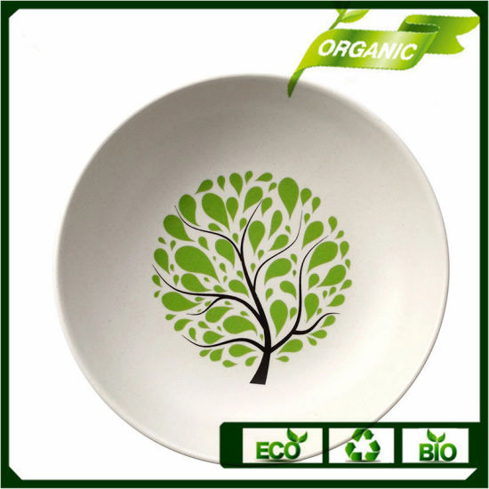 OEM Logo Free Sample OEM Children Tableware Dishes Eco Bamboo Fiber Plate pictures & photos