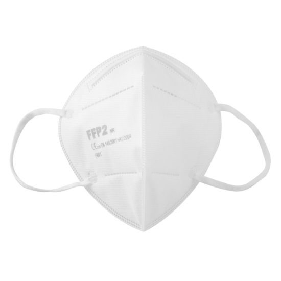 White List 5 Ply Layer FFP2 Earloop Protective Disposable Breathable Face Mask