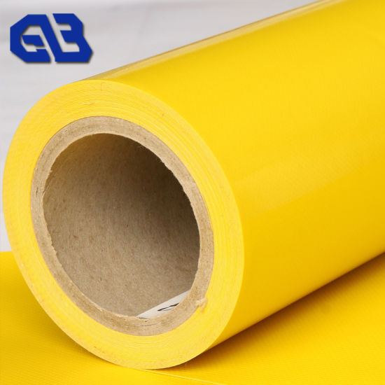 18oz 100% Polyester PVC Tarp Vinyl Coated Tarpaulin Fabric Roll pictures & photos