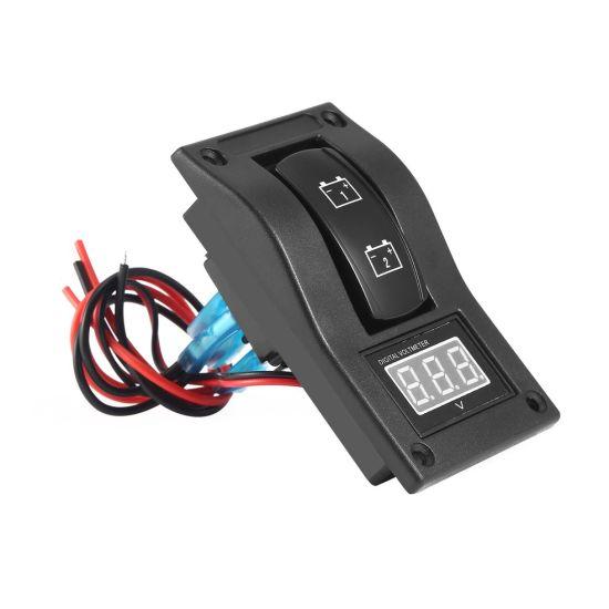 Roter Monitor 12 Volt Batterie Meter DC Auto Gauge Wasserdicht Digital Voltmeter