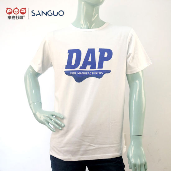 Customised High Quality Men Combed Cotton Printing Round Neck T-Shirt