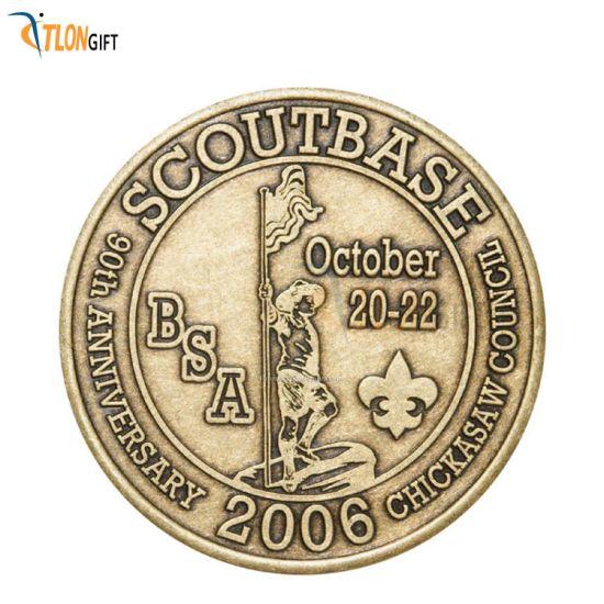Hot-Selling Circular High-Quality Metal Award Commemorative Badge