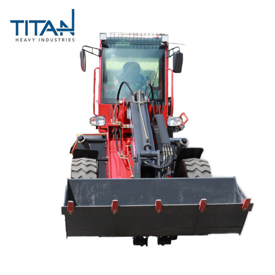 Titan 1.6t Good Price Telescoping Mini Front Loader with luxurious cab