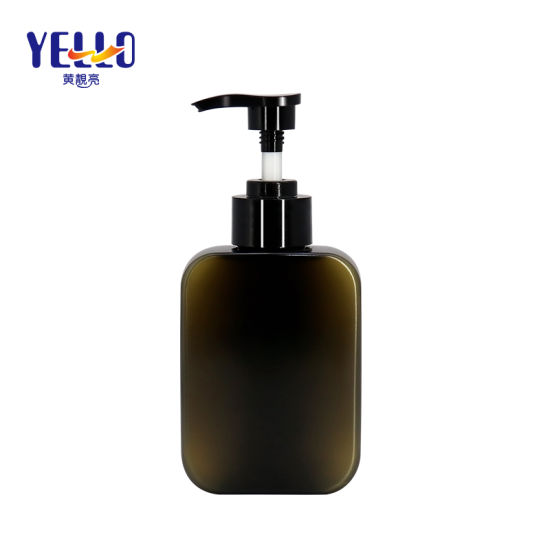180ml Square Body Lotion Bottle with Pump Dispenser Shampoo Bottle