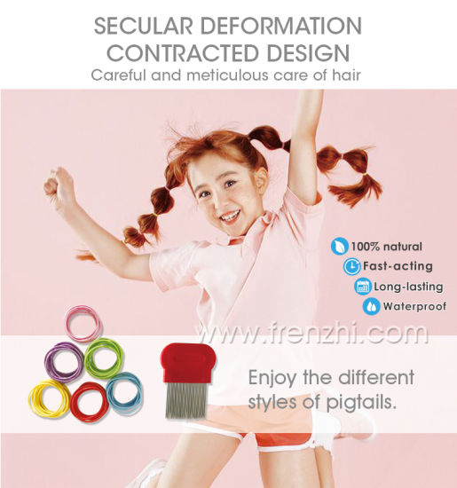 2020 New Colorful Rubber Elastic Anti Lice Hair Band Pest Repeller