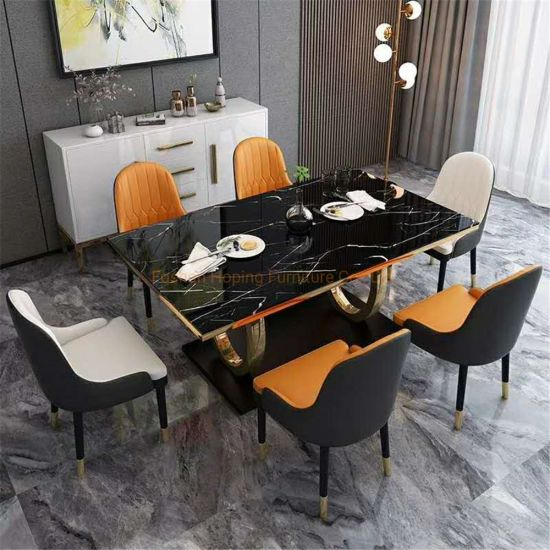 Luxury Restaurant Hotel Banquet Wedding Event Furniture Round Dining Table with Marble Top
