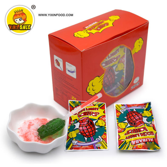 Boom Light Lollipop with Popping Candy