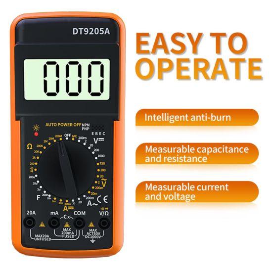 Wholesale Dt9205A Dt 9205 Dt 9205A Dt-9205 Dt-9205A Avometer Multimetro Multitest Digital Multimeter