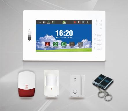 "Built-in Antenna GSM Alarm System with 7"" Touch Screen Es-X6"