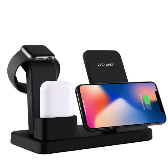 3 in 1 Fast Qi Wireless Charging Stand Dock Station