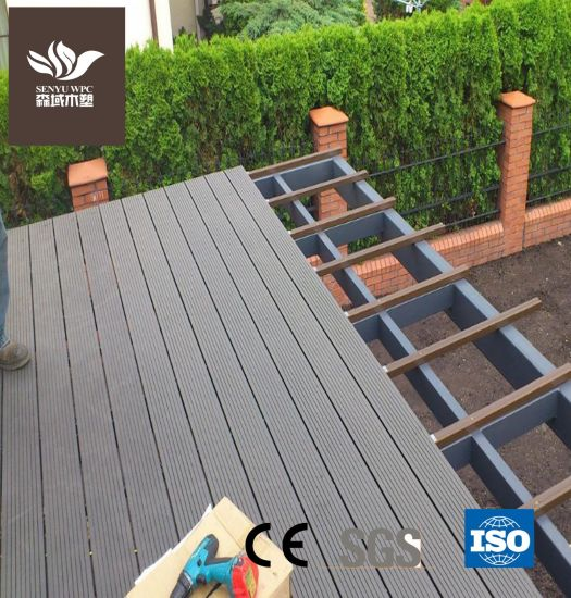 Factory Wholesale Outdoor WPC Wood Plastic Composite Decking Board with CE