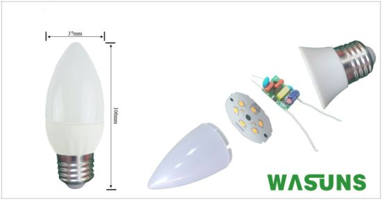 LED Bulb 5W E27 2700k Good Christmas Candle pictures & photos