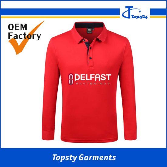Custom Made Good Quality China Men's Full Sleeve Polo Shirts